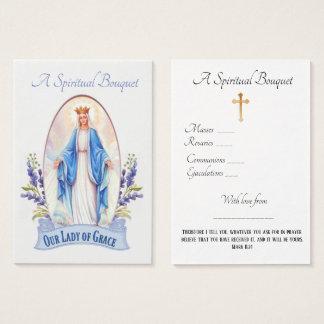 Senhora do cartão santamente da oração do buquê