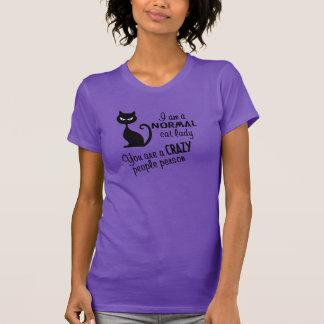 Senhora do gato camiseta