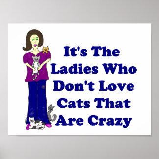 Senhora do gato nao louco posters
