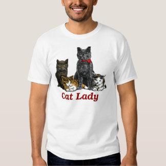 Senhora do gato tshirts