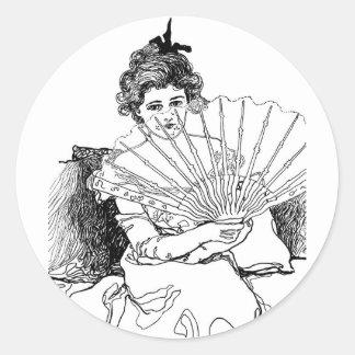 senhora do victorian adesivo