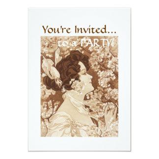 Senhora do Victorian Convites Personalizados
