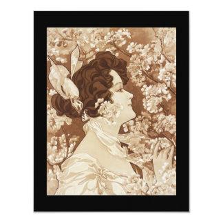 Senhora do Victorian do art deco Convites Personalizado
