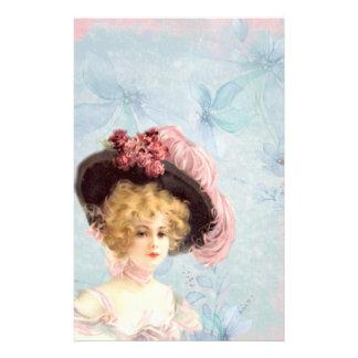 Senhora do Victorian em artigos de papelaria