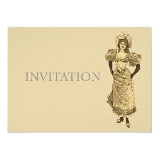 Senhora do Victorian no vestido - aniversário do Convites Personalizado