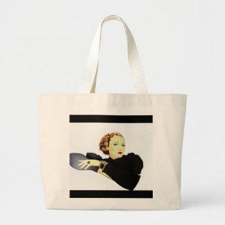 senhora em produtos pretos do vintage bolsa para compra