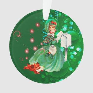 Senhora Envio pelo correio Letra Verde do natal Ornamento