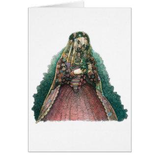 Senhora espanhola cartão comemorativo