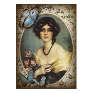 Senhora fino Forma de Paris da borboleta do Cartao De Visita