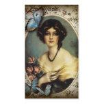 Senhora fino Forma de Paris da borboleta do vintag Cartao De Visita