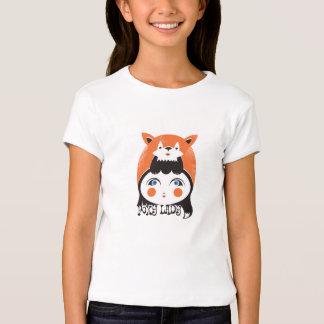 Senhora Foxy, luva americana do boné do roupa das Tshirts