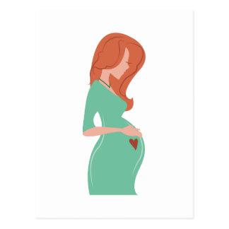 Senhora grávida cartão postal