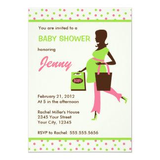 Senhora grávida chá de fraldas da compra convites personalizados