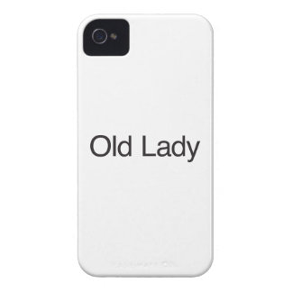 Senhora idosa capa para iPhone 4 Case-Mate