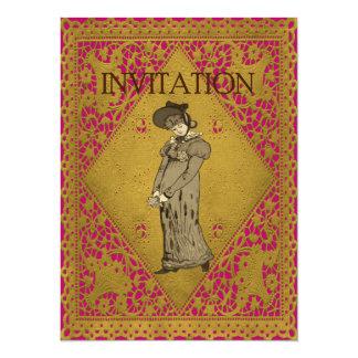 senhora Ilustração do vintage 1800's Convite