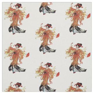 Senhora japonesa Floral Tecido da flor do