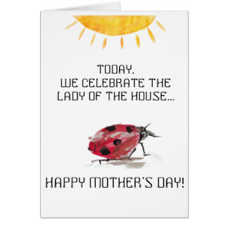 Senhora (joaninha) do cartão do dia das mães da