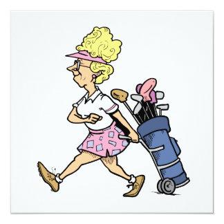 Senhora Jogador de golfe Camiseta e presentes Convites