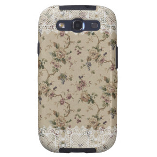 Senhora laçado floral Samsung Galáxia do vintage Capinha Samsung Galaxy S3