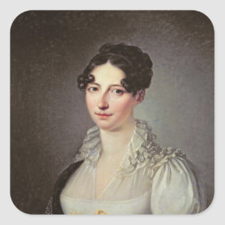 Senhora Laure de Berny Adesivo Quadrado
