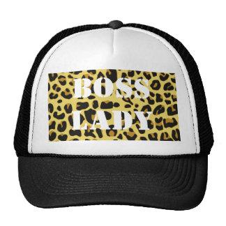 Senhora Leopardo Imprimir Chapéu do chefe Boné
