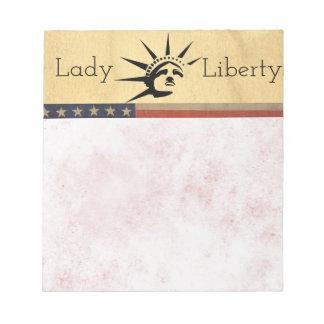Senhora Liberdade Caderno De Anotação