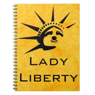 Senhora Liberdade Caderno Espiral