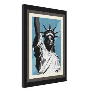 Senhora Liberdade Impressão De Canvas Esticadas