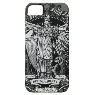 Senhora Liberdade Caso de Libertas Capa Para iPhone 5