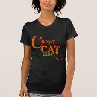 Senhora louca Coleção do gato T-shirt