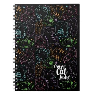 Senhora louca Colorido Desenhos animados Teste Caderno Espiral