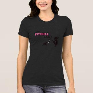 Senhora louca de Pitbull Camiseta