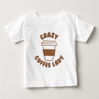 senhora louca do café camiseta para bebê