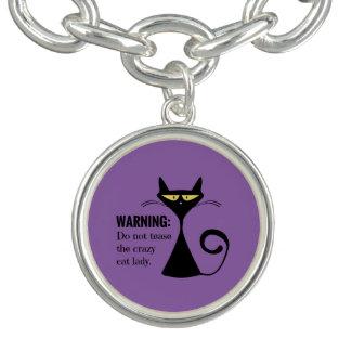 Senhora louca do gato bracelete