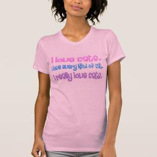 Senhora louca do gato - gatos do amor de I Camisetas
