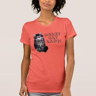 Senhora louca do gato! tshirt