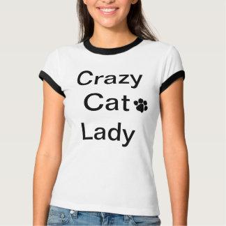 Senhora louca Senhora T-shirt do gato