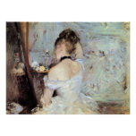 Senhora no toalete por Berthe Morisot Posters