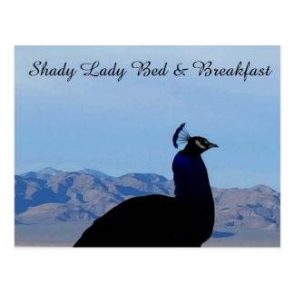 Senhora obscuro Cama & cartão do pequeno almoço