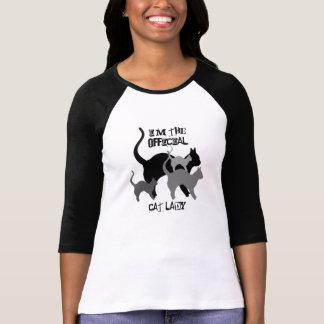 Senhora oficial do gato engraçada t-shirts