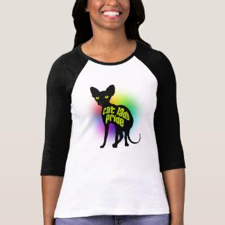 Senhora Orgulho Basebol Camisa do gato T-shirts