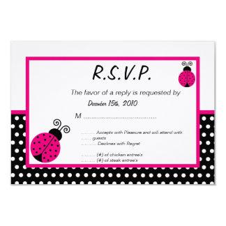 senhora preta Desinsetar RSVP da primavera 3x5 Convite 8.89 X 12.7cm