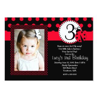 Senhora vermelha Desinsetar Partido Aniversário Convite Personalizados