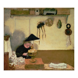 Senhora Vuillard Sewing Pôster