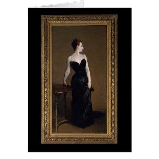 Senhora X por John Singer Sargent Cartão Comemorativo