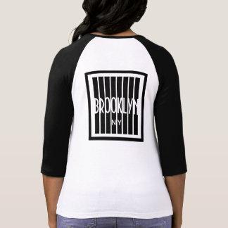 Senhoras 3/4 de camisa do Raglan da luva T-shirt