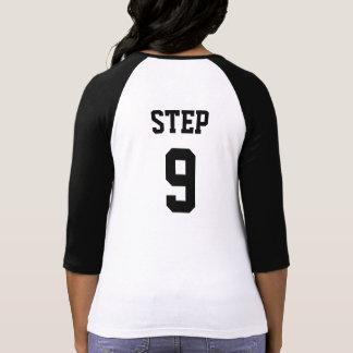 Senhoras 3/4 de camisa do Raglan de etapa 9 da luv T-shirt