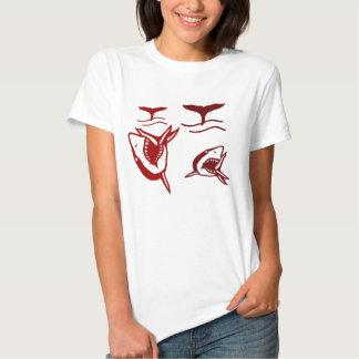 Senhoras 3/4 de Raglan da luva (cabido) Camisetas