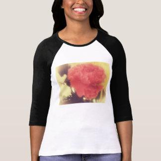 senhoras cor-de-rosa da camisa do raglan do