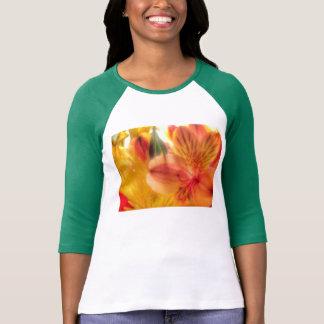 senhoras da camisa do raglan do lírio de tigre camisetas